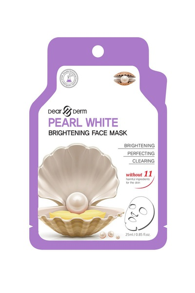 DEARDERM PEARL WHITE FACE MASK