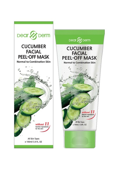 DEARDERM CUCUMBER FACIAL PEEL-OFF MASK NORMAL TO COMBINATION SKIN