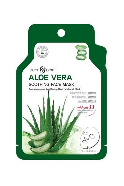 DEARDERM ALOE VERA SOOTHING FACE MASK