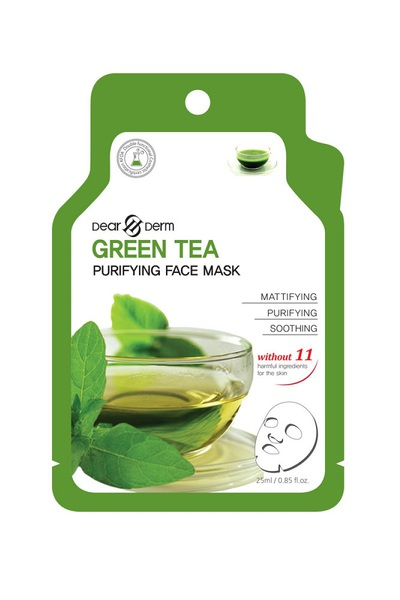 DEARDERM GREEN TEA AGE-ERASER FACE MASK