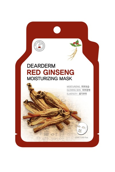 DEARDERM RED GINSENG MOISTURIZING FACE MASK