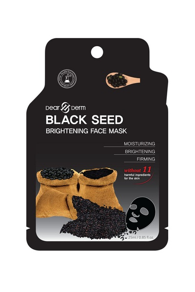 DEARDERM BLACK SEED BRIGHTING FACE MASK