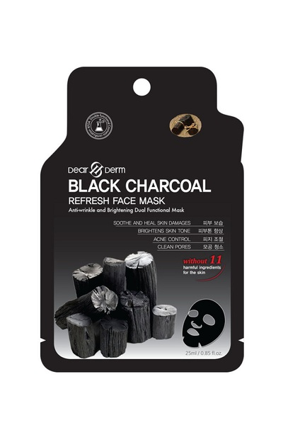 DEARDERM BLACK CHARCOAL PURIFYING FACE MASK