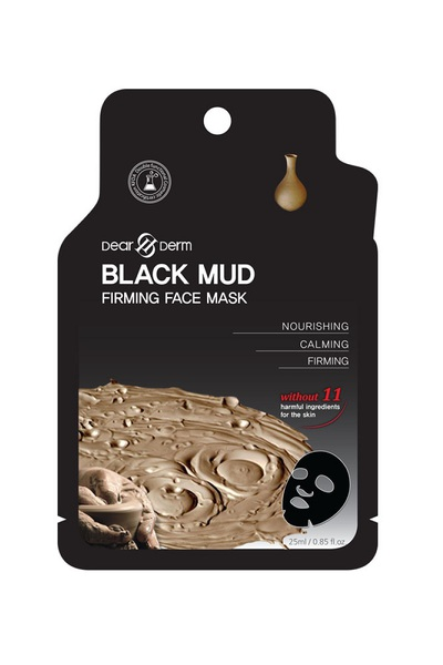 DEARDERM BLACK MUD FIRMING FACE MASK