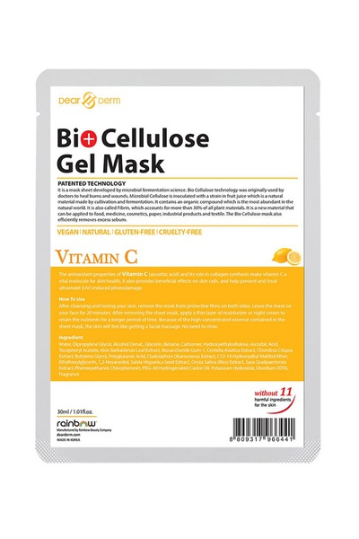 DEARDERM BIO CELLULOSE GEL MASK - VITAMIN C