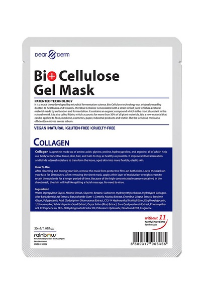DEARDERM BIO CELLULOSE GEL MASK - COLLAGEN
