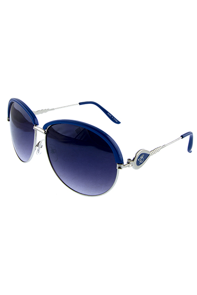 Womens queen crowned metal sunglasses