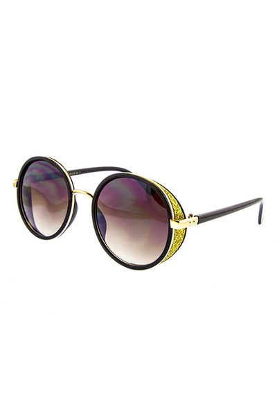 PLASTIC WOMENS SIDECOVER HIGH FAASHION SUNGLASSES