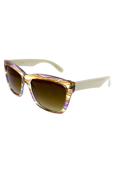 Womens horned rimmed thick square sunglasses