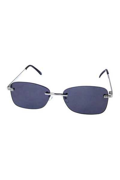 Womens rimless square metal retro sunglasses