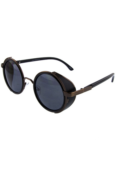 Unisex round circle vintage metal sunglasses