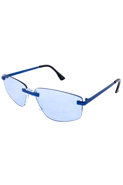 Womens metal rimless square fashion sunglasses