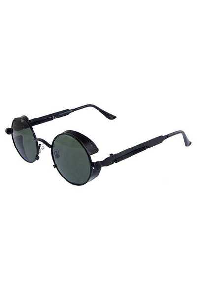 Unisex metal rounded fashion sunglasses