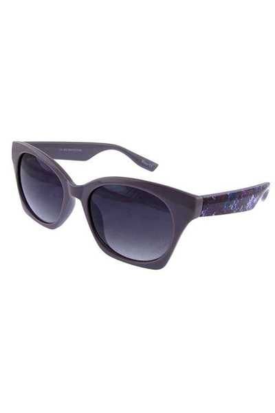 Womens pointy square plastic fashion sunglasses