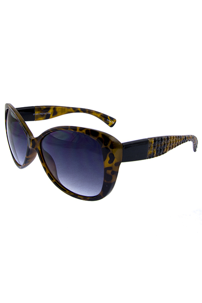 womens ribbed catty square fashion sunglasses