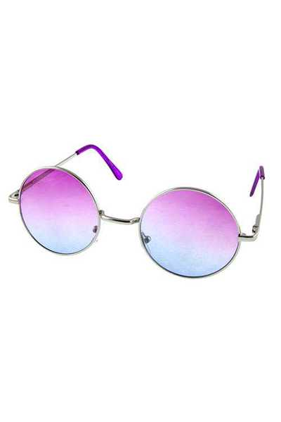 Womens rounded vintage metal style sunglasses