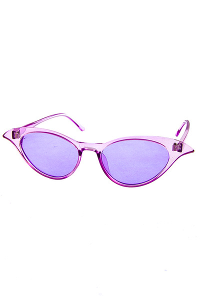 Womens plastic cat eye pointy retro sunglasses