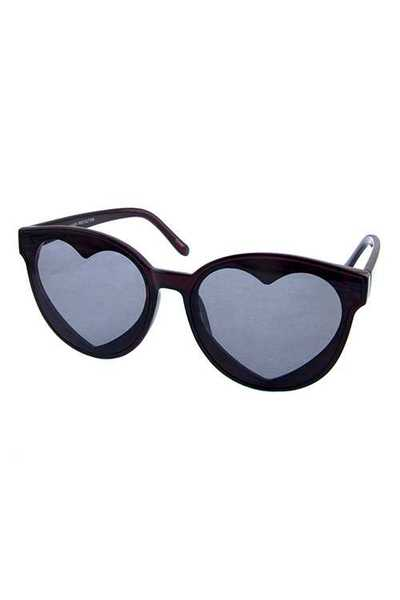 Womens square heart style plastic sunglasses