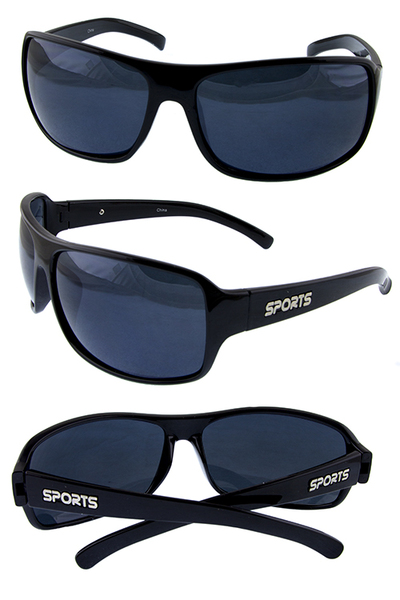 Mens sports lifestyle plastic style sunglasses