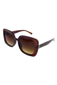 Womens square retro plastic sunglasses