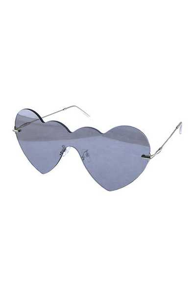 Womens rimless heart cat eye style sunglasses