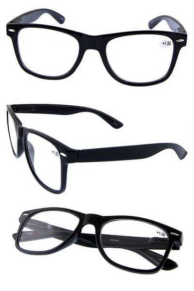 Quality style square plastic reading glasses