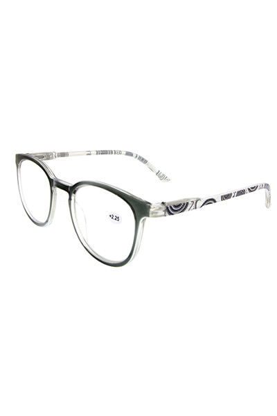 Paisley style plastic reading glasses