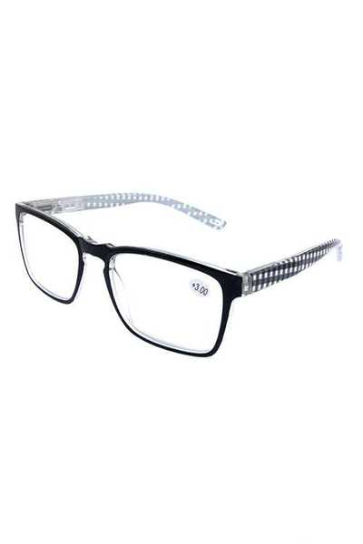 Plaid Style Plastic Square Reading Glasses