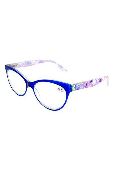 High pointed plastic reading glasses