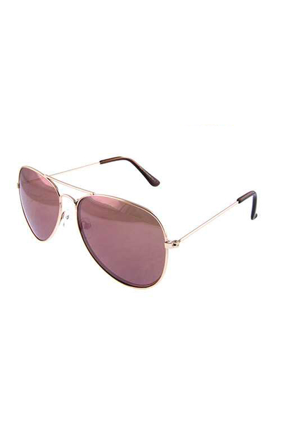 Womens elegant deluxe aviator metal sunglasses