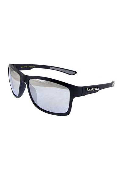 Mens reflective lens square plastic sunglasses