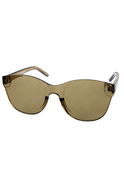 Womens rimless horned plastic fashion sunglasses