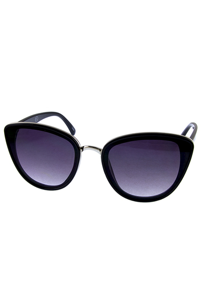 Womens Retro Cat Eye High Pointed Sunglasses