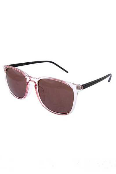 Womens classic horn rimmed square sunglasses