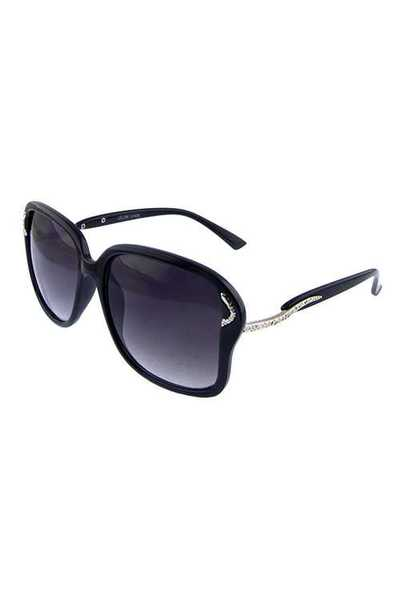 Womens square plastic elegant retro sunglasses