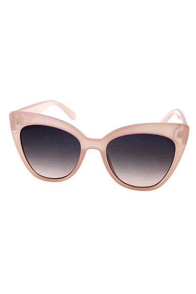 Womens high pointed plastic fashion sunglasses