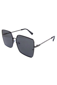Womens square metal trim fashion sunglasses