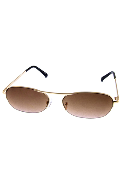 Womens oval metal vintage semi rimless sunglasses