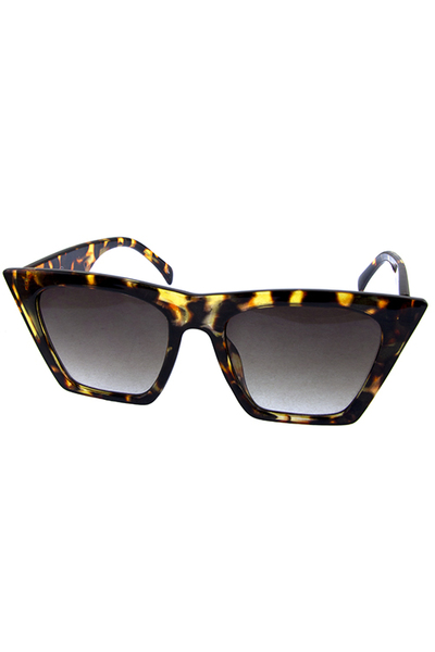 Womens square high pointed plastic sunglasses