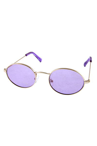 Womens metal rimmed oval mesmerize sunglasses