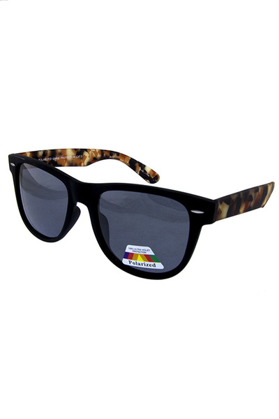 Mens polarized horn rim style sunglasses