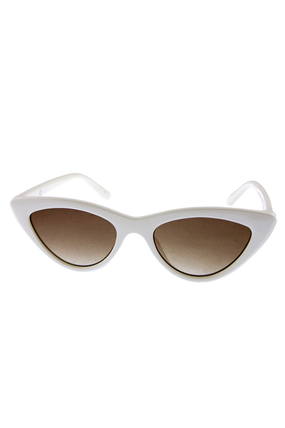 Womens high pointed stoneflint cateye sunglasses