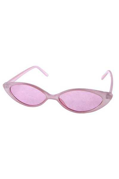 Womens Cat Eye Plastic Fully Rimmed Sunglasses
