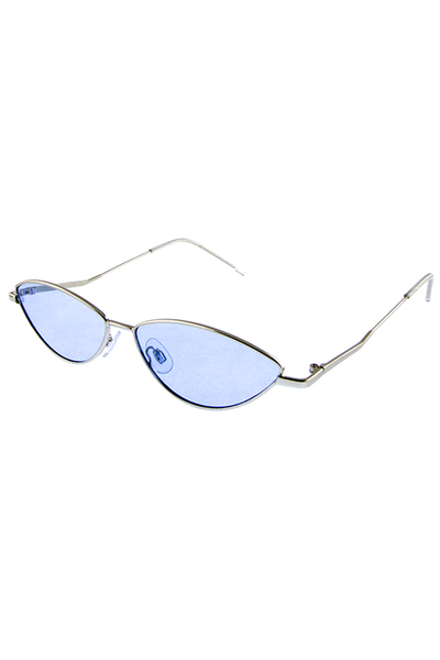 Womens festival cat eye metal vintage sunglasses