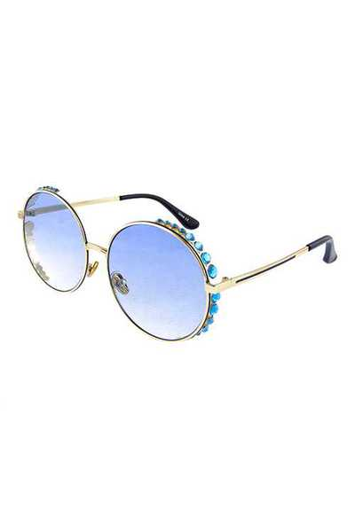 Womens metal circle geometric fashion sunglasses