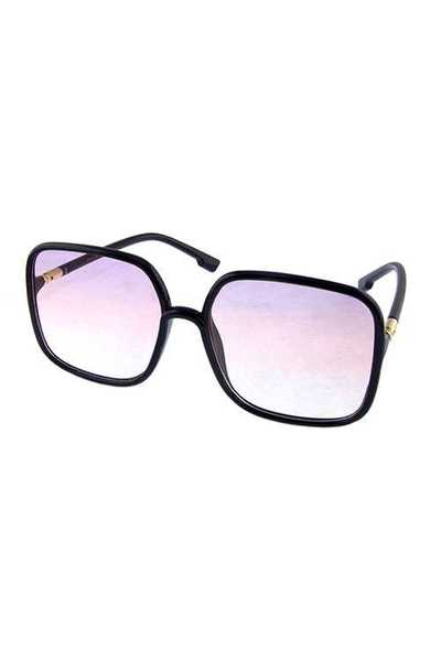 Womens square plastic classic fashion sunglasses