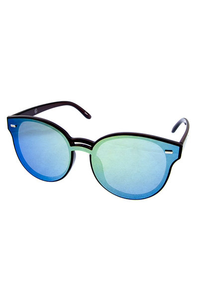 Womens plastic fully rimmed high pointed sunglasses