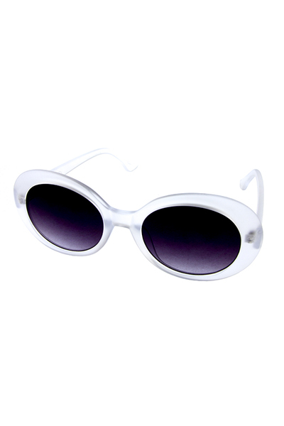 Womens plastic oval shaped UV400 protected sunglasses