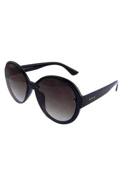Womens plastic rounded fashion sunglasses