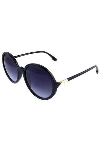 Womens rounded plastic retro sunglasses